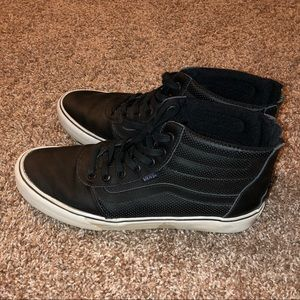 Leather high top Vans